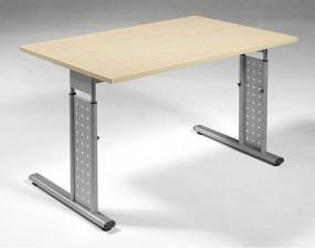Schreibtisch Madrid, beidseit. zurückgesetzt, 120 cm Breite, höhenverstellbar