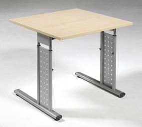 Schreibtisch Madrid, li. zurückgesetzt, 80 cm Breite, höhenverstellbar