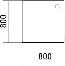 Volleckplatte Madrid 90°, 80 cm Breite