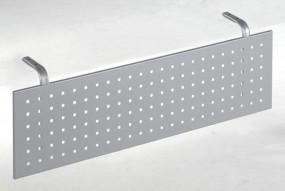Schreibtisch Madrid-Sichtblende, für Tischbreite 80 cm, Silber