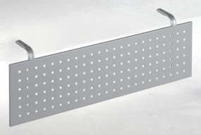 Schreibtisch Madrid-Sichtblende, für Tischbreite 120 cm, Silber