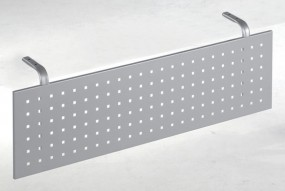 Schreibtisch Madrid-Sichtblende, für Tischbreite 160 cm, Silber