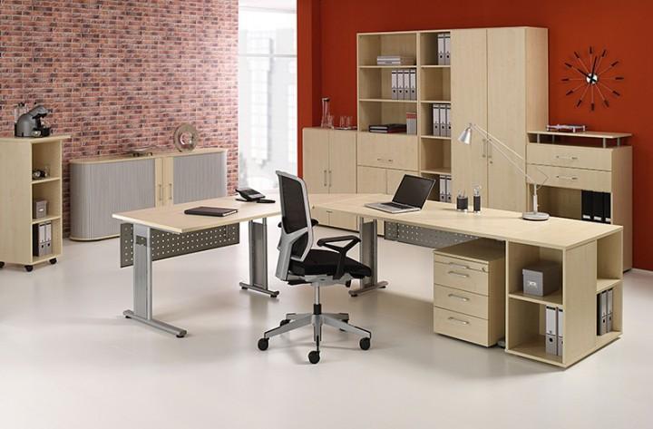 Schreibtisch Lissabon, 160 cm Breite | Büromöbel von office11