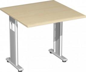 Schreibtisch Lissabon, 80 cm Breite, beidseitig zurückgesetzt