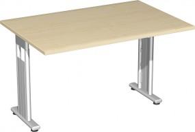 Schreibtisch Lissabon, 120 cm Breite, beidseitig zurückgesetzt