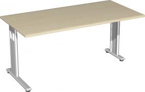 Schreibtisch Lissabon, 160 cm Breite, re. zurückgesetzt