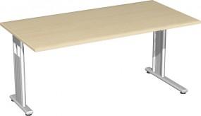 Schreibtisch Lissabon, 160 cm Breite, li. zurückgesetzt