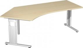 Schreibtisch Lissabon 135° links, 217 cm Breite