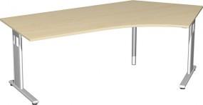 Schreibtisch Lissabon 135° rechts, 217 cm Breite