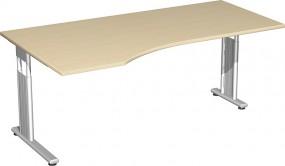 PC-Schreibtisch Lissabon links, 180 cm Breite, li. zurückgesetzt
