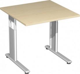 Schreibtisch Lissabon, 80 cm Breite, höhenverstellbar