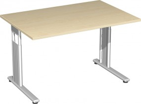 Schreibtisch Lissabon, 120 cm Breite, höhenverstellbar