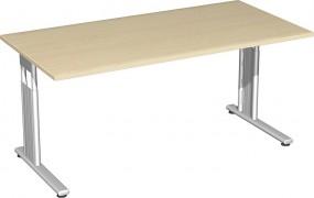 Schreibtisch Lissabon, 160 cm Breite, höhenverstellbar
