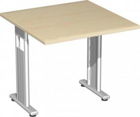 Schreibtisch Lissabon, 80 cm Breite, beidseitig zurückgesetzt, höhenverstellbar