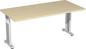 Schreibtisch Lissabon, 160 cm Breite, beidseitig zurückgesetzt, höhenverstellbar