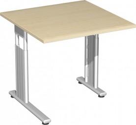 Schreibtisch Lissabon, 80 cm Breite re. zurückgesetzt, höhenverstellbar
