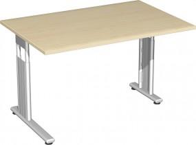 Schreibtisch Lissabon, 120 cm Breite re. zurückgesetzt, höhenverstellbar