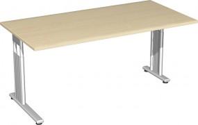 Schreibtisch Lissabon, 160 cm Breite re. zurückgesetzt, höhenverstellbar