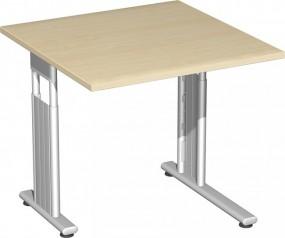Schreibtisch Lissabon, 80 cm Breite li. zurückgesetzt, höhenverstellbar