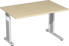 Schreibtisch Lissabon, 120 cm Breite li. zurückgesetzt, höhenverstellbar