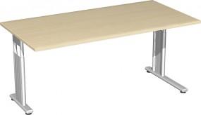 Schreibtisch Lissabon, 160 cm Breite li. zurückgesetzt, höhenverstellbar