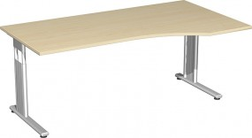 PC-Schreibtisch Lissabon rechts, 180 cm Breite, höhenverstellbar