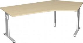 Schreibtisch Lissabon 135° rechts, 217 cm Breite, höhenverstellbar