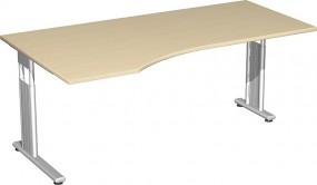 PC-Schreibtisch Lissabon links, 180 cm Breite, re. zurückgesetzt, höhenverstellbar