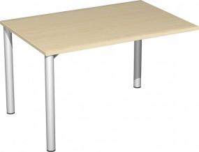 Verkettungs-Schreibtisch Stockholm mit 3 Füßen, 120 cm Breite