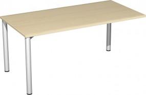 Verkettungs-Schreibtisch Stockholm mit 3 Füßen, 160 cm Breite