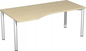 PC-Schreibtisch Stockholm links, 180 cm Breite