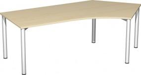 Schreibtisch Stockholm 135° rechts, 217 cm Breite