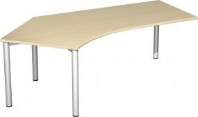 Schreibtisch Stockholm 135° links, 217 cm Breite, re. zurückgesetzt