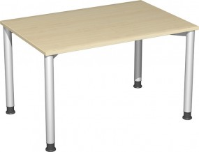 Schreibtisch Stockholm, 120 cm Breite, höhenverstellbar