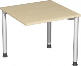 Verkettungs-Schreibtisch Stockholm mit 3 Füßen, 80 cm Breite, höhenverstellbar