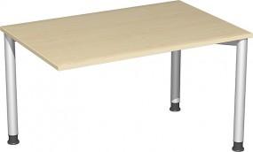 Verkettungs-Schreibtisch Stockholm mit 3 Füßen, 120 cm Breite, höhenverstellbar