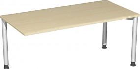 Verkettungs-Schreibtisch Stockholm mit 3 Füßen, 160 cm Breite, höhenverstellbar
