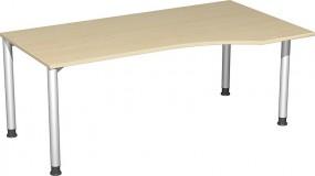 PC-Schreibtisch Stockholm rechts, 180 cm Breite, höhenverstellbar