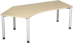 Schreibtisch Stockholm 135° links, 217 cm Breite, höhenverstellbar