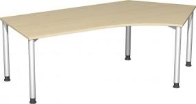 Schreibtisch Stockholm 135° rechts, 217 cm Breite, höhenverstellbar