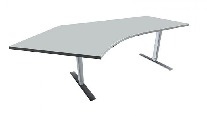 elektrisch h henverstellbarer schreibtisch hubtisch valencia 135 links 217 cm breite. Black Bedroom Furniture Sets. Home Design Ideas
