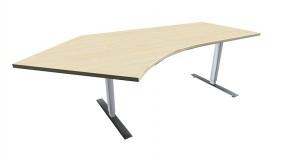 Elektrisch höhenverstellbarer Schreibtisch (Hubtisch) Valencia, 135° links, 217 cm Breite