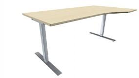 Elektrisch höhenverstellbarer Schreibtisch (Hubtisch) Valencia, rechts 180 cm Breite, zerlegt