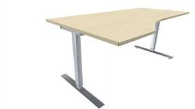 Elektrisch höhenverstellbarer Schreibtisch (Hubtisch) Valencia, links 180 cm Breite, zerlegt