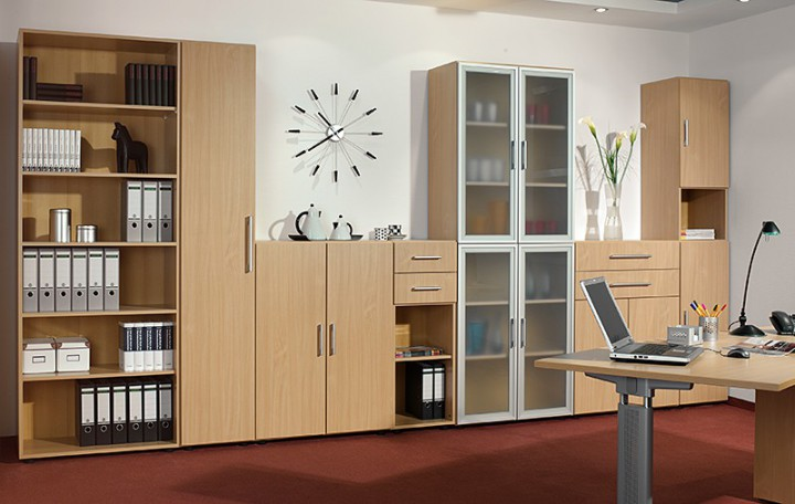 Büromöbel schrank  Büromöbel Rolladenschrank: Ergonomische büromöbel von geramöbel.