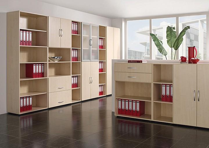 Büromöbel schrank holz  Sideboard Mailand mit Standfüßen 2 Ordnerh., 200 cm breit ...