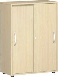 Schiebetürenschrank Mailand 3 Ordnerh. mit Justierfüßen, Breite 80 cm