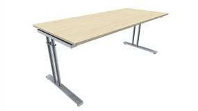 Schreibtisch five C-Fuß Zweisäuler, 180 cm Breite