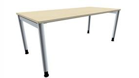 Schreibtisch five 4-Fuß-Gestell, Rundrohrprofil 60 mm, 180 cm Breite