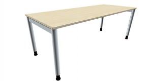 Schreibtisch five 4-Fuß-Gestell, Rundrohrprofil 60 mm, 200 cm Breite